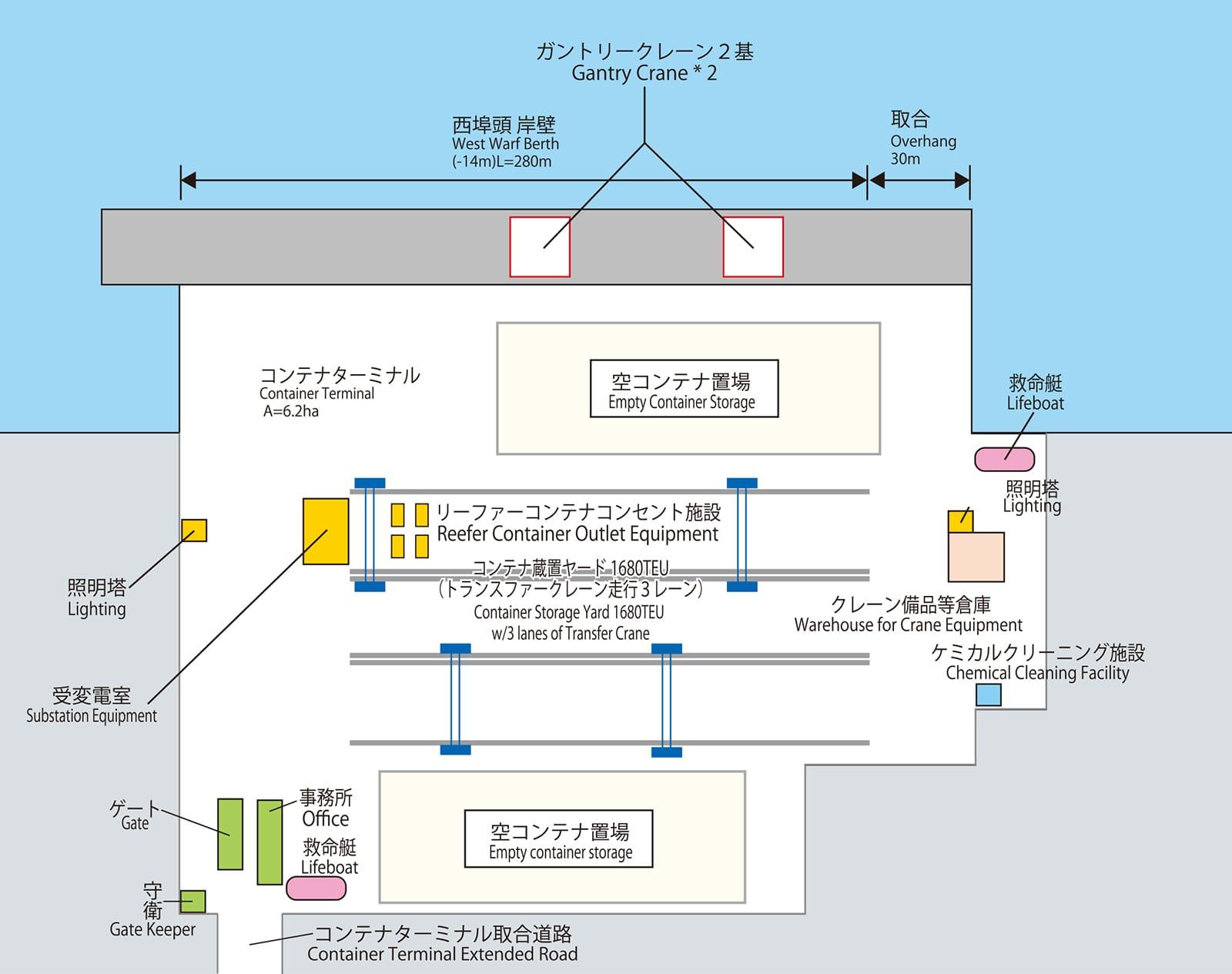 御前崎コンテナターミナル平面図